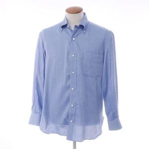ルイジ ボレッリ LUIGI BORRELLI コットン ボタンダウンシャツ ブルー 39 ritagliolibro