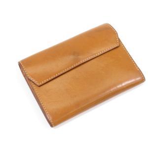 万双 マンソウ mansaw レザー 2つ折り財布 キャメル|ritagliolibro