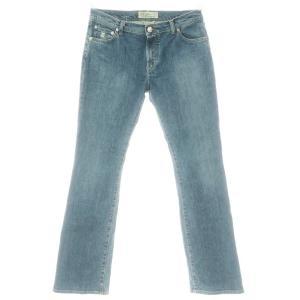 ヤコブコーエン JACOB COHEN レディース J5 710 ブーツカット デニムパンツ ブルー 31|ritagliolibro