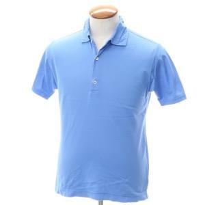 ドルモア Drumohr コットン鹿の子 半袖ポロシャツ ブルー M|ritagliolibro