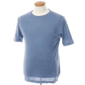 ザノーネ ZANONE ピマコットン 天竺 半袖クルーネックTシャツ グレイッシュブルー M ritagliolibro