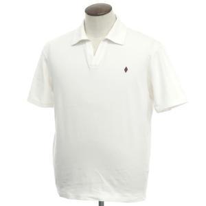 バランタイン BALLANTYNE コットン天竺 半袖スキッパーポロシャツ ホワイト XL|ritagliolibro