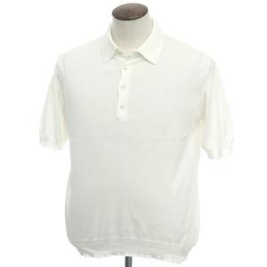 ジェントリーポルトフィーノ gentryportofino コットン 半袖ニットポロシャツ オフホワイト 50 ritagliolibro