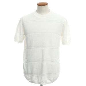 ロベルト コリーナ ROBERTO COLLINA コットンナイロン パイル 半袖クルーネックニットTシャツ ホワイト 46 ritagliolibro