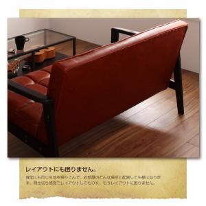 一人掛けソファ おしゃれ 一人掛けソファー 一人掛けチェア 肘付き 椅子 合皮 チェア 肘付きソファ コンパクト 木製 レトロ ヴィンテージ|ritmato|05