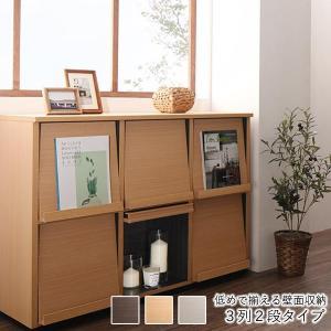 収納 チェスト 3列2段 タイプ フラップチェスト フラップ扉 本棚 リビング収納 日本製|ritmato