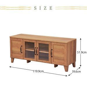 テレビボード テレビ台 ローボード 収納 おしゃれ 木製 120 ナチュラル カントリー ritmato 06