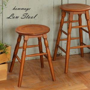 スツール おしゃれ 木製 チェア 玄関 椅子 丸 レトロ カフェ風|ritmato