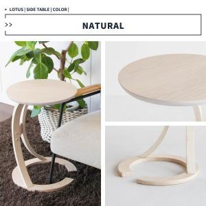 サイドテーブル おしゃれ 木製 カフェ風 丸型 40 リビング 寝室 玄関 ベッド ナイトテーブル ベッドサイドテーブル|ritmato|12