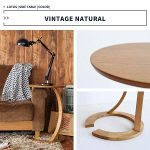 サイドテーブル おしゃれ 木製 カフェ風 丸型 40 リビング 寝室 玄関 ベッド ナイトテーブル ベッドサイドテーブル|ritmato|13