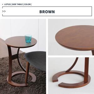 サイドテーブル おしゃれ 木製 カフェ風 丸型 40 リビング 寝室 玄関 ベッド ナイトテーブル ベッドサイドテーブル|ritmato|14