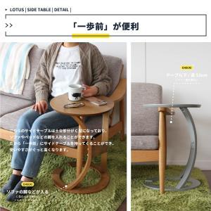サイドテーブル おしゃれ 木製 カフェ風 丸型 40 リビング 寝室 玄関 ベッド ナイトテーブル ベッドサイドテーブル|ritmato|05