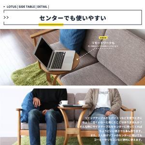 サイドテーブル おしゃれ 木製 カフェ風 丸型 40 リビング 寝室 玄関 ベッド ナイトテーブル ベッドサイドテーブル|ritmato|06