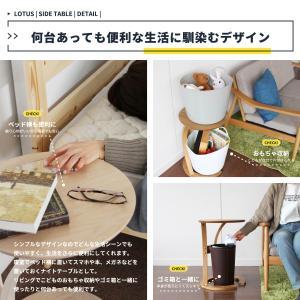 サイドテーブル おしゃれ 木製 カフェ風 丸型 40 リビング 寝室 玄関 ベッド ナイトテーブル ベッドサイドテーブル|ritmato|07