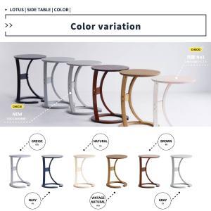サイドテーブル おしゃれ 木製 カフェ風 丸型 40 リビング 寝室 玄関 ベッド ナイトテーブル ベッドサイドテーブル|ritmato|09