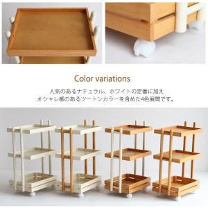 ワゴン キャスター付き 木製 おしゃれ 3段 白 ホワイト ナチュラル キッチンワゴン ランドセルラック|ritmato|07