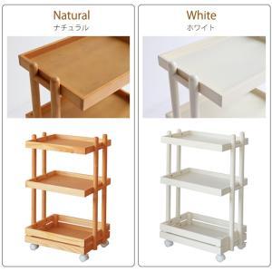 ワゴン キャスター付き 木製 おしゃれ 3段 白 ホワイト ナチュラル キッチンワゴン ランドセルラック|ritmato|08