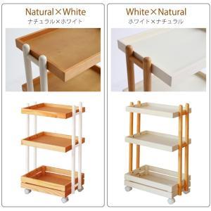 ワゴン キャスター付き 木製 おしゃれ 3段 白 ホワイト ナチュラル キッチンワゴン ランドセルラック|ritmato|09