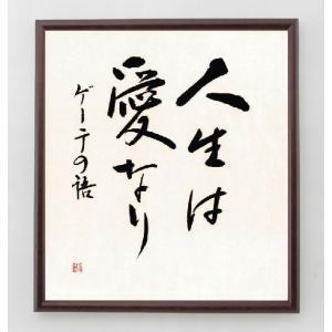 名言色紙『人生は愛なり』ゲーテ/額付き|rittermind