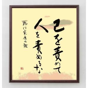 名言色紙『己を責めて、人を責めるな』徳川家康/額付き|rittermind