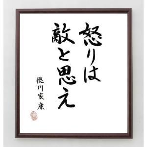 名言色紙『怒りは敵と思え』徳川家康/額付き|rittermind