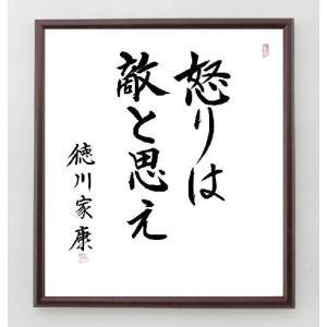 徳川家康の名言色紙『怒りは敵と思え』額付き/在庫品