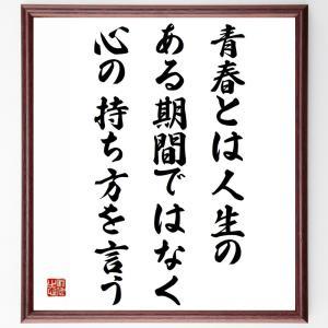 サミュエル・ウルマンの名言色紙『青春とは人生のある期間ではなく心の持ち方を言う』額付き/受注後直筆|rittermind