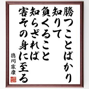 徳川家康の名言色紙『勝つことばかり知りて、負くること知らざれば、害その身に至る』額付き/受注後直筆|rittermind