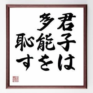 『君子は多能を恥す』/直筆名言色紙/額付き/受注後直筆制作