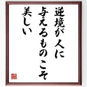 シェイクスピアの名言色紙『逆境が人に与えるものこそ美しい』額付き/受注後直筆|rittermind