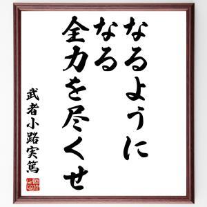 武者小路実篤の名言色紙『なるようになる、全力を尽くせ』額付き/受注後直筆|rittermind