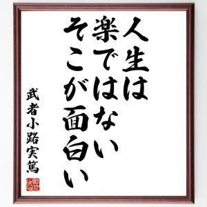 武者小路実篤の名言色紙『人生は楽ではない、そこが面白い』額付き/受注後直筆|rittermind
