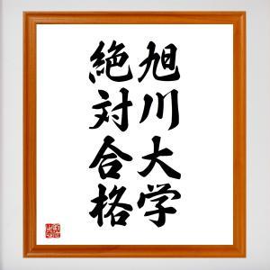 合格祈願色紙『旭川大学、絶対合格(北海道)』額付き/受注後直筆|rittermind