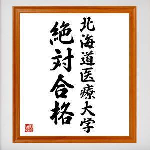 合格祈願色紙『北海道医療大学、絶対合格(北海道)』額付き/受注後直筆|rittermind