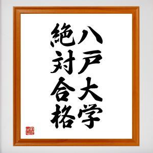 合格祈願色紙『八戸大学、絶対合格(青森県)』額付き/受注後直筆|rittermind