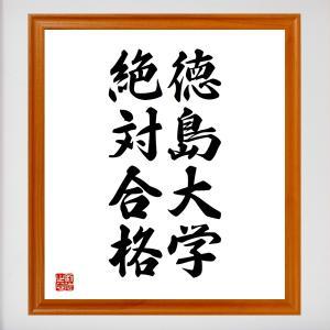 合格祈願色紙『徳島大学、絶対合格(徳島県)』額付き/受注後直筆|rittermind