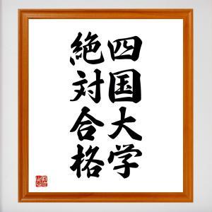 合格祈願色紙『四国大学、絶対合格(徳島県)』額付き/受注後直筆|rittermind