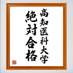 合格祈願色紙『高知医科大学、絶対合格(高知県)』額付き/受注後直筆|rittermind