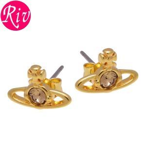 全品5%還元 ヴィヴィアン ウエストウッド Vivienne Westwood ピアス NANO SOLITAIRE アクセサリー スタッズ ゴールド 真鍮 1112-02-62|riverall-men