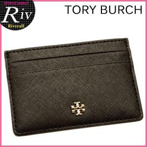 トリーバーチ TORY BURCH パスケース カードケース 定期入れ ROBINSON SLIM CARD CASE ブラック レザー 11169074-001|riverall-men