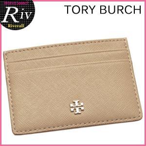 トリーバーチ TORY BURCH パスケース カードケース 定期入れ ROBINSON SLIM CARD CASE フレンチグレー レザー 11169074-036|riverall-men