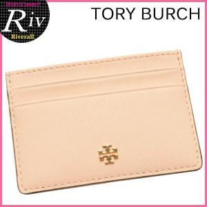 トリーバーチ TORY BURCH パスケース カードケース 定期入れ ROBINSON SLIM CARD CASE ペールアプリコット レザー 11169074-228|riverall-men