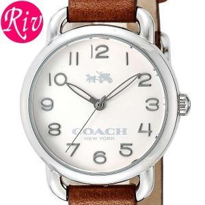 コーチ COACH 腕時計 DELANCEY SMALL 28mm レディース シルバー カーフレザー ステンレススチール 14502258 riverall-men