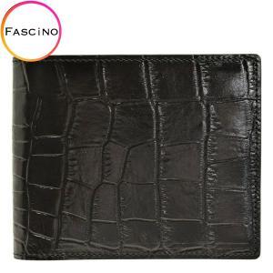 リンレ RINRE メンズ 財布 クロコ型押しレザー 革 極薄 折財布 二つ折り 国産 3001bkbk riverall-men