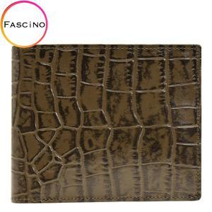 リンレ RINRE メンズ 財布 クロコ型押しレザー 革 極薄 折財布 二つ折り 国産 3001khkh riverall-men