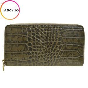 リンレ RINRE メンズ 財布 クロコ型押しレザー 革 極薄 長財布 ラウンドファスナー 国産 3003khkh riverall-men