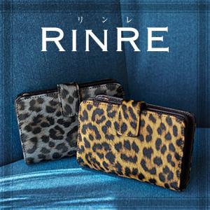 リンレ RINRE 財布 折財布 二つ折り レオパード 豹柄 5200 riverall-men