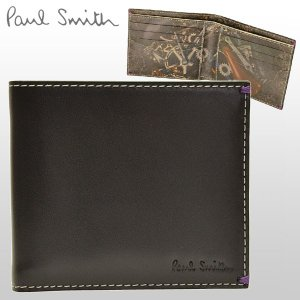 ポイント3%還元 ポールスミス Paul Smith 財布 メンズ 二つ折り財布 札入れ AGXA1032|riverall-men