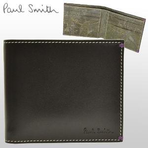 ポイント3%還元 ポールスミス Paul Smith 財布 メンズ 二つ折り財布 札入れ AHXA1032|riverall-men