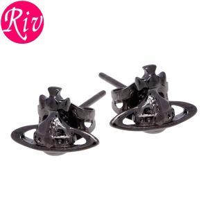 全品5%還元 ヴィヴィアン ウエストウッド Vivienne Westwood ピアス LORELEI アクセサリー スタッズ ガンメタル 真鍮 be1177-4|riverall-men